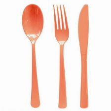 menagere plastique orange 30 pieces