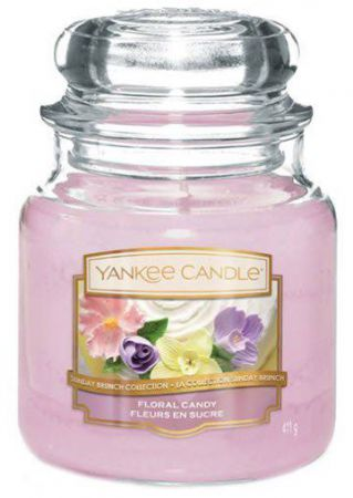 1611850e floral candy medium jar yankee candle