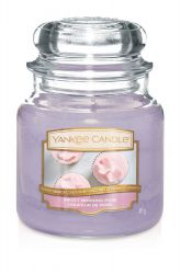 1611851e sweet morning rose medium jar douceur de rose yankee candle